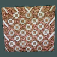 1860's Lovely old Chintz Quilt unused w sizing
