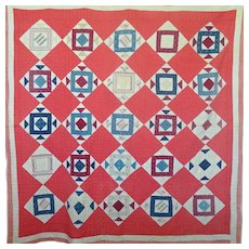 "Antique Quilt ""Square in a Square"""