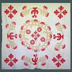 1800's Applique Quilt .. maybe an original design