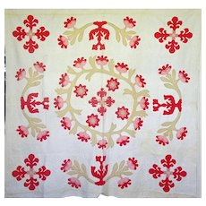 1800's Applique Quilt .. maybe an original design