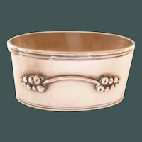 Vintage Danish Silver Napkin Ring Simplistic design