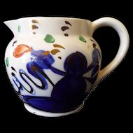 Gaudy Welsh petit Creamer England..Smoking Indian