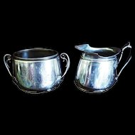 Old Gorham Sterling Cream & Sugar Grapevines 14.6 oz 1871
