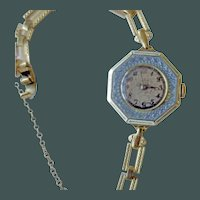 Sweet  Enamel Ladies Wristwatch
