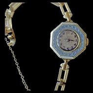 Sweet  Enamel Ladies Wristwatch