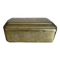 OLD Brass Box Decorative Chasing