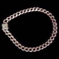 """14K Heavy Gold Curb Link Bracelet - 8-1/8""""  19.84 gr"""