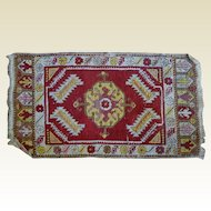 "Small Oriental Carpet 19""x 30"" Medallion"