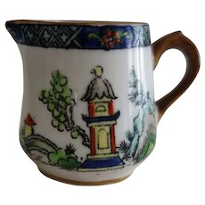 "Crown Staffordshire miniature Creamer ""Ye Old Willow"""