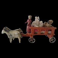 Miniature Wagon, horses and Bears