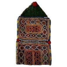 Old Indian Katchi mirror purse