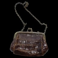 Doll Purse- leather  c 1910