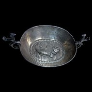 Old Colonial Spanish Silver Cup shallow 2 handles