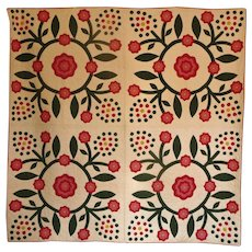 Mint Applique Quilt - 12spi berries EXPERTLY MADE