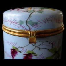 Porcelain hand-painted box- Butterfly flowers, c. 1860 French - Red Tag Sale Item