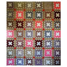 1800's Album Quilt- oh the prints! - Red Tag Sale Item