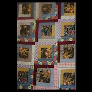 Log Cabin Quilt TOP --unused, unwashed
