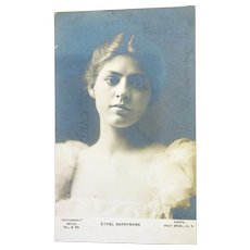 old Postcard Ethel Barrymore young lady Rotograph
