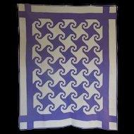 Quilt ~ 1930 Snail Trail / Va Reel