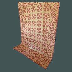Antique Applique Quilt==Elaborately stitched