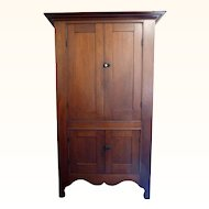 Shaker Wall Cupboard in Walnut American Circa 1870