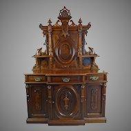 Sideboard American Victorian Renaissance Revival Circa 1870