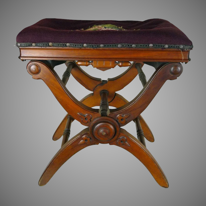 Miraculous Adjustable Piano Stool American Victorian C 1870S Theyellowbook Wood Chair Design Ideas Theyellowbookinfo