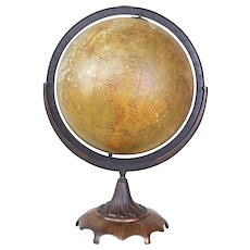 "Phillips 12"" Terrestrial Globe c. 1911"