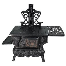 """Crescent"" Toy Cast Iron Cook Stove c.1900"