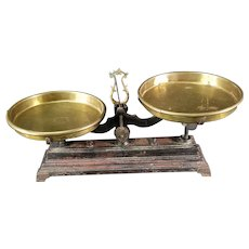 Balance Scale with Brass Pans c. 1890