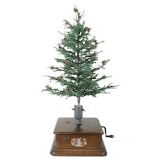 Swiss Musical and Rotating Christmas Tree Stand c. 1890
