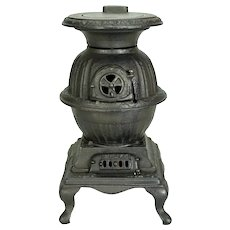 "Toy Pot Belly Stove "" BLAZE "" c. 1900"