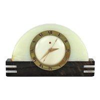 "Art Deco Telechron ""Harwich"" Mantel Clock    c.1940"