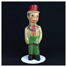 Charlie McCarthy Carnival Prize Chalkware  c. 1940