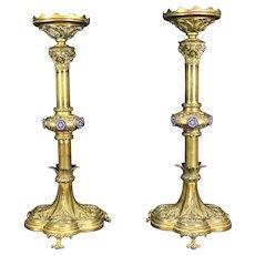 Pair of Victorian Candlesticks c. 1880