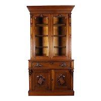 American Victorian  Secretary Desk and Bookcase c. 1870