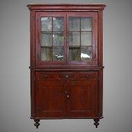 Grain Painted Corner Cupboard York County c.1840