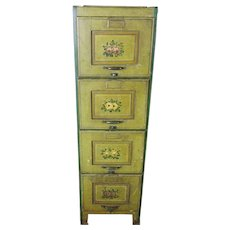 Hand Painted File Cabinet c. 1900