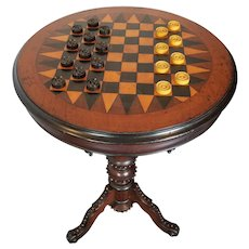 American Victorian Game Table c. 1870s