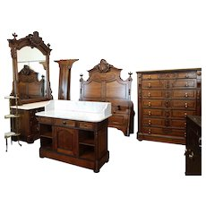 American Victorian Bedroom Suite c. 1870's