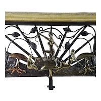 The Cincinnati Artistic Wrought Iron Works Company Bench c.1930