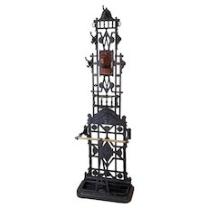 Cast Iron Hall Stand   c. 1870