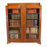 Arts and Crafts Oak Bookcase   c. 1890