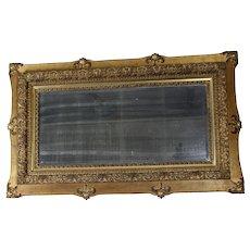 Beveled Mirror in Gold Frame c. 1890