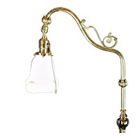 Neo-Classical Brass Bridge Lamp  c.1930
