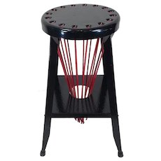 Industrial Shop Stool and Drying Rack