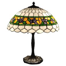 Iris Stained Glass Table Lamp c. 1920