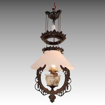 Pull down oil chandelier pat. 1875