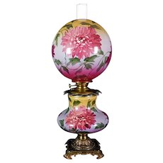 Gone with the Wind Oil Lamp c. 1890s  Dahlia