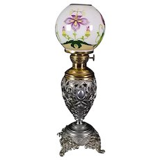 Miniature Banquet Oil Lamp c. 1890s